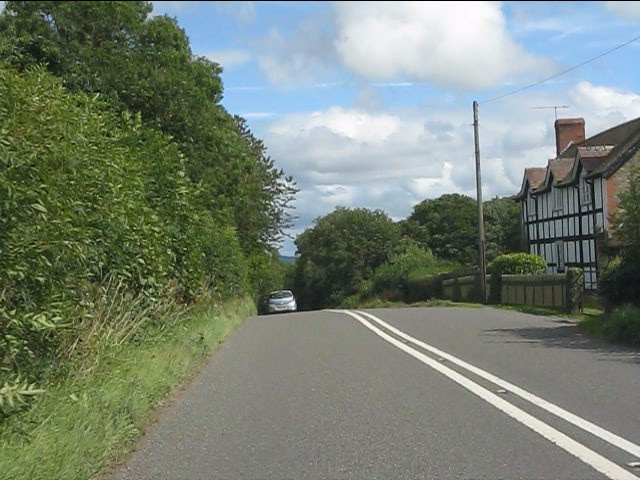 First house in Shropshire on the A4113