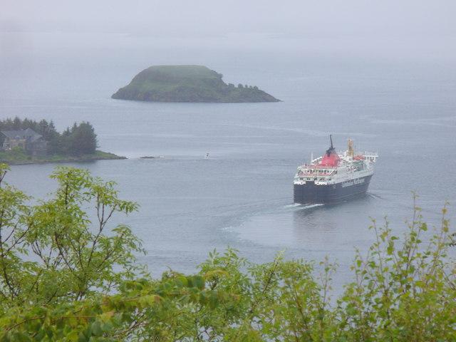 Isle of Mull in Oban Bay