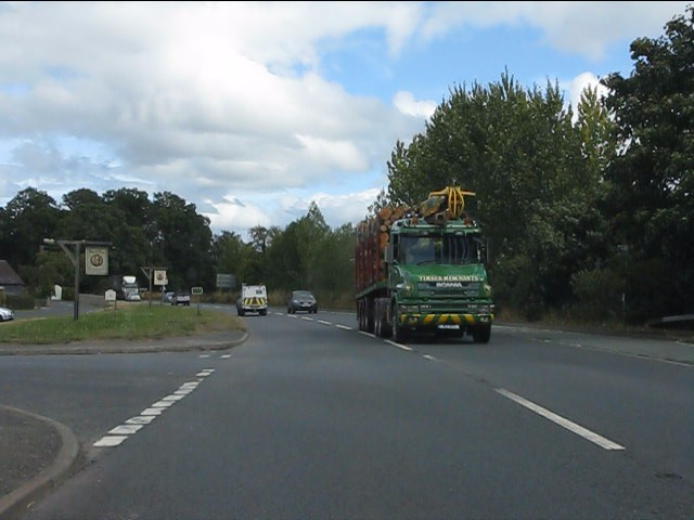 Timber traffic on the A49, Bromfield