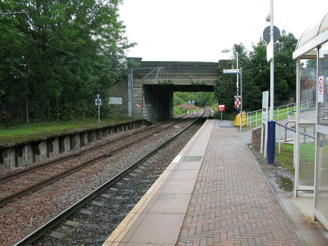Corkerhill railway station, looking NW