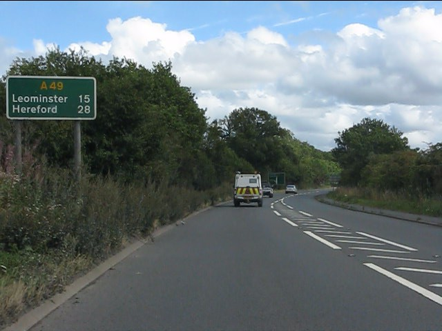 A49 route confirmatory sign
