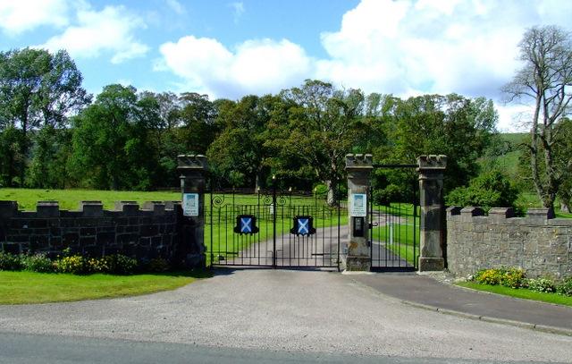 Kames Castle gates
