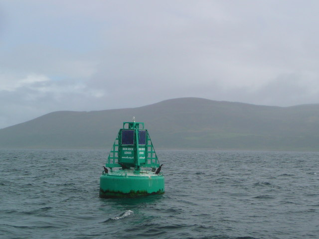The Iron Rock Ledges starboard-hand buoy