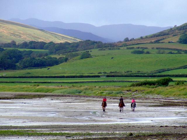 Horse riders at Ettrick Bay