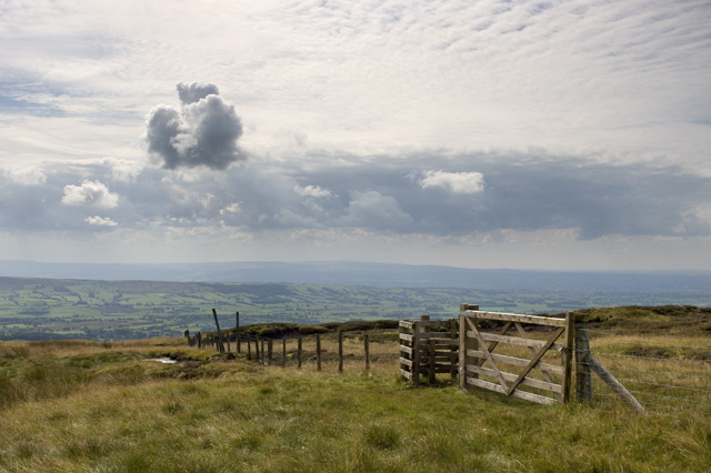 Kissing gate on Saddle Fell