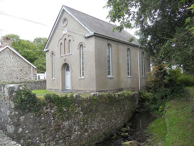 Chapel and stream in Moylgrove