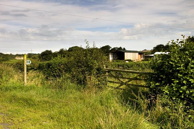 Start of footpath to Huds Brook farm