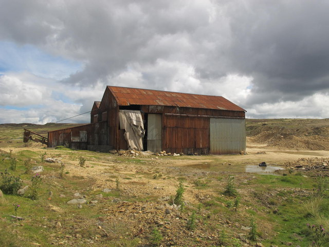 Buildings at Weatherhill Quarry