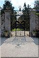 O2116 : Delicate Iron Gate, Powerscourt, County Wicklow, Ireland by Christine Matthews