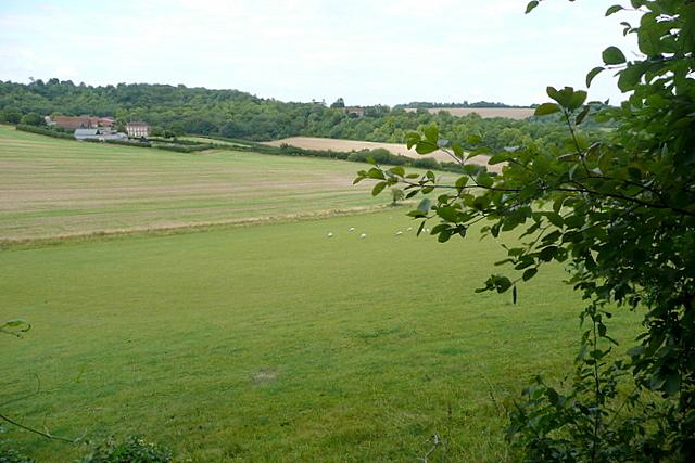 Towards Manor Farm and Hughenden Manor