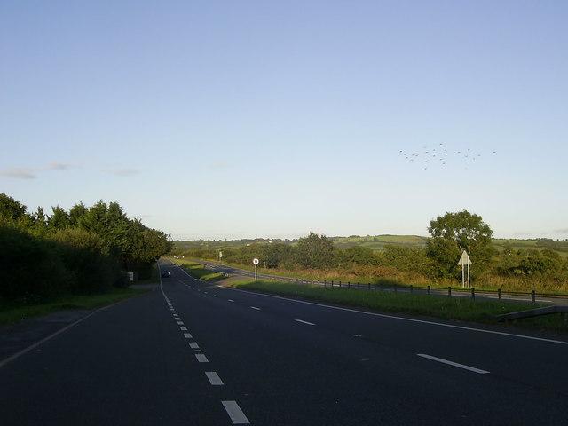 A40 Dual Carriageway near Bancyfelin
