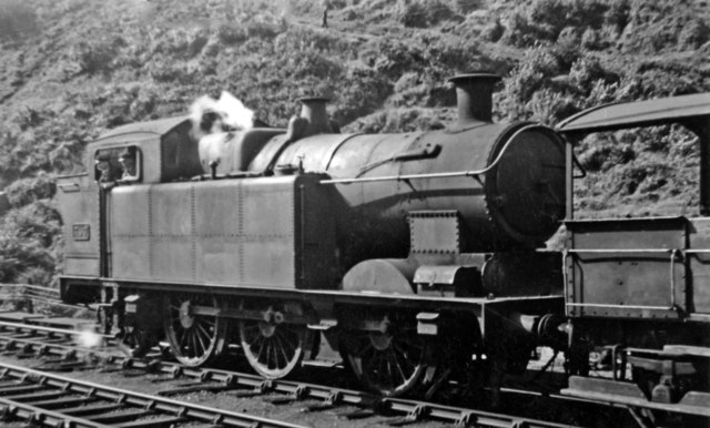 Ex-Taff Vale 0-6-2T at Abercynon