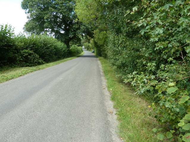 North on Hammingden Lane near Newland Cottages