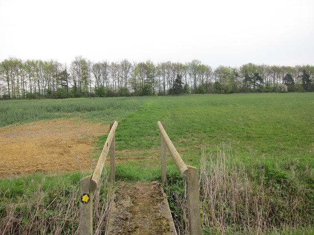 Footpath to Weston Woods Farm