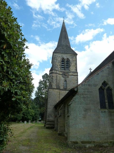 Spire at All Saints church Highbrook