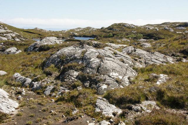 Rocky landscape west of Flodabay (Fleoideabhagh)