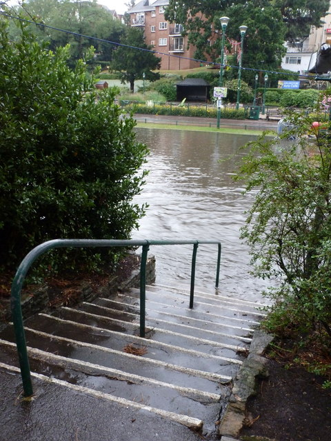 Bournemouth: steps into the flood