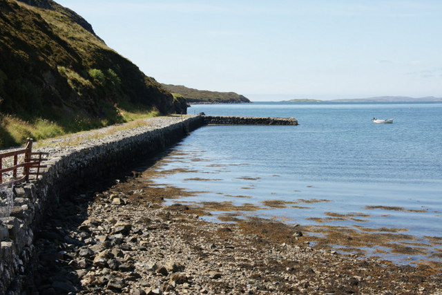 The old pier at the end of Old Pier Road, Tarbert (An Tairbeart)