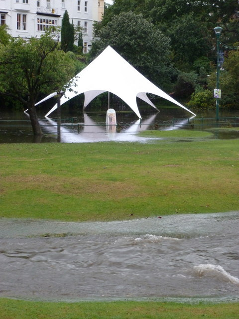 Bournemouth: a canopy in the flooded Lower Gardens