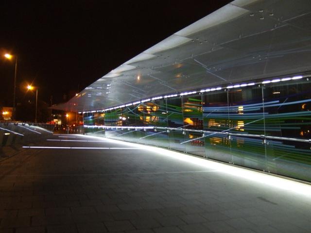 Interchange Footbridge at night