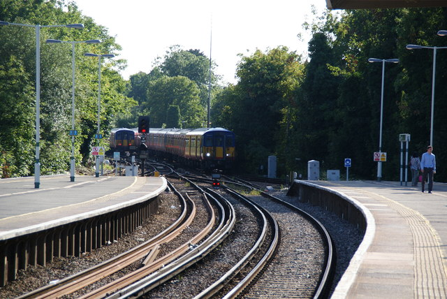 Trains passing at Epsom