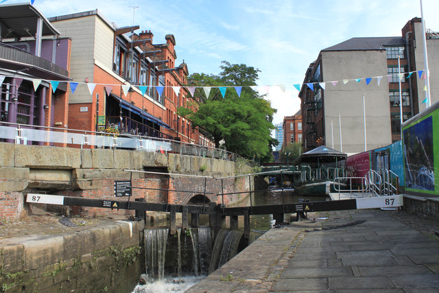 The Rochdale Canal, Canal Street, Manchester
