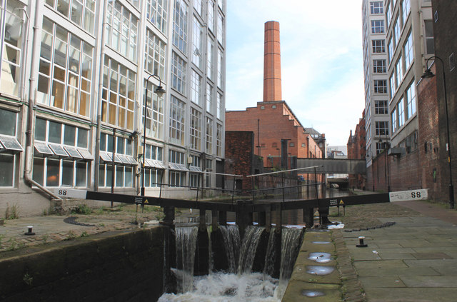 The Rochdale Canal in Manchester city centre
