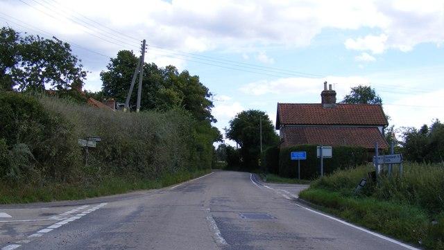 B1079 Woodbridge Road, Hasketon