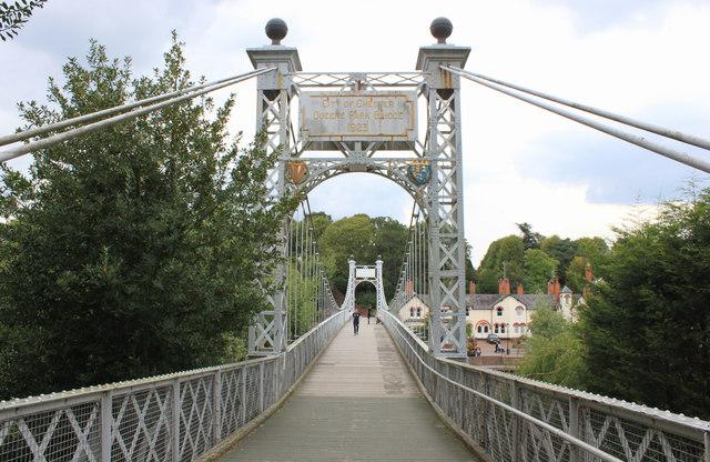 Queens Park suspension bridge