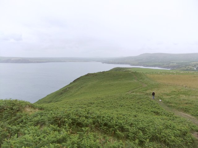 The Pembrokeshire Coast path east of Dinas Head