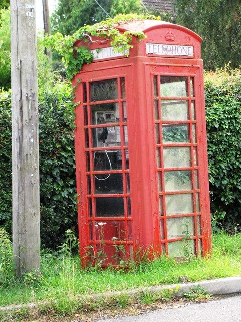 Overgrown Red Phone Box