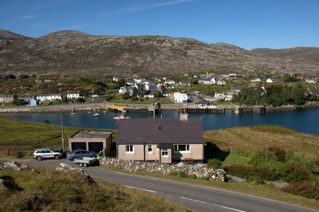 House at Direcleit and a view over Tarbert