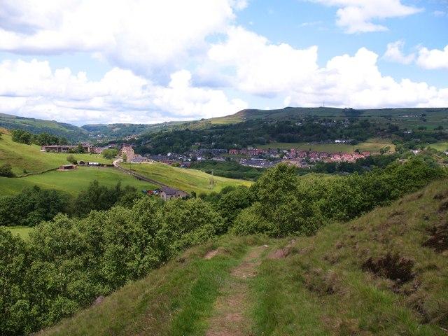 Hillside path, Lumbutts