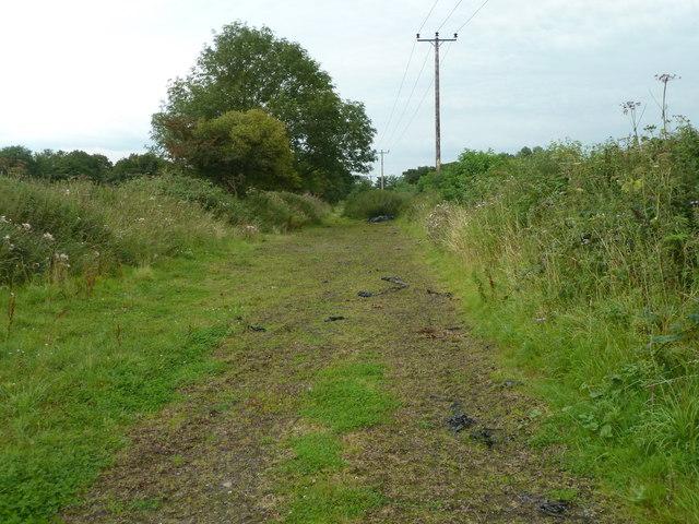 Path of old railway track near River Hindburn