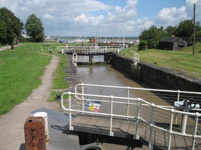 Lydney Harbour lock