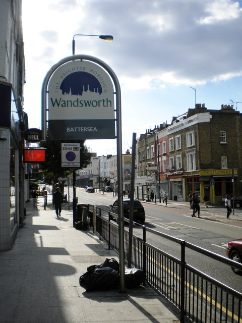 Welcome to Battersea sign, Lavender Hill SW11