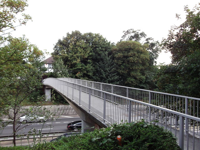 Footbridge over the A2 East Rochester Way