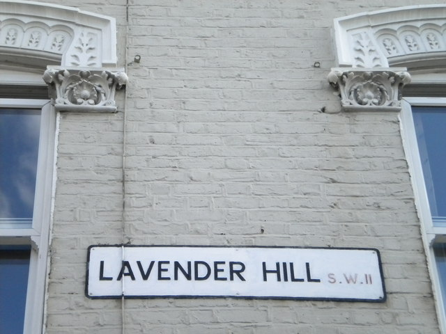 Street sign, Lavender Hill SW11