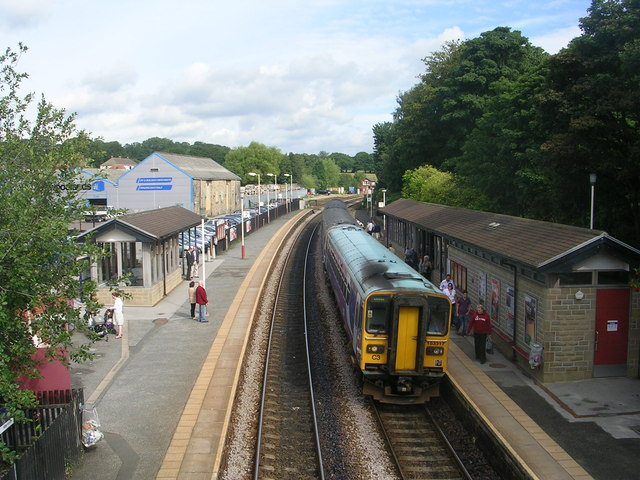 Horsforth Station viewed from Bridge LEH1/20 - Station Road