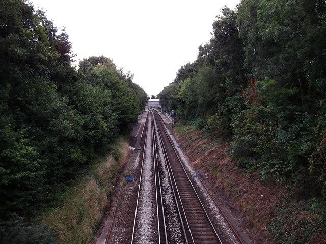 Railway towards Albany Park
