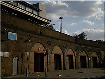 TQ2775 : Railway arches, Grant Road SW11 by Robin Sones