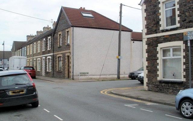 Corner of Windsor Street and Salop Street, Caerphilly