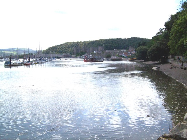 Conwy Castle from The North Wales Path