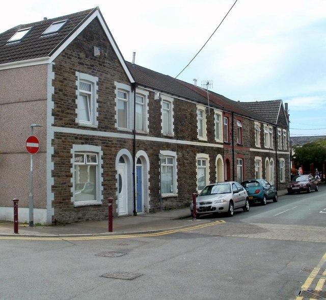 Western end of Windsor Street, Caerphilly
