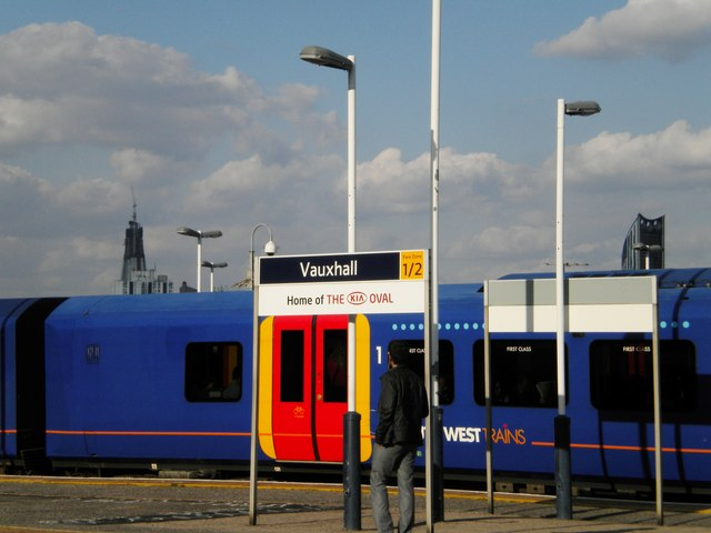 Platform sign, Vauxhall Station