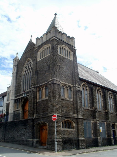 Van Road United Reformed Church Caerphilly viewed from the west