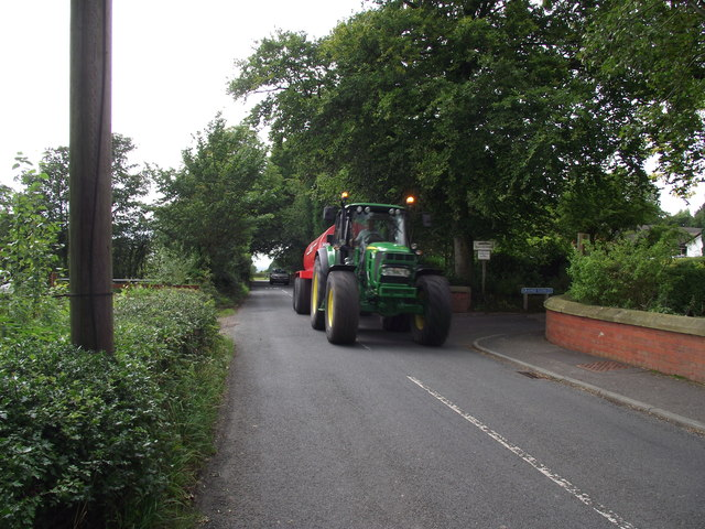 Tractor on Gib Lane