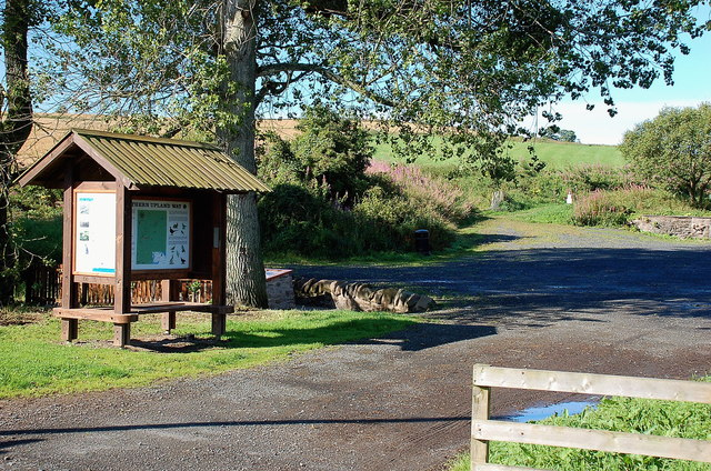 Southern Upland Way shelter and information board, Lauder