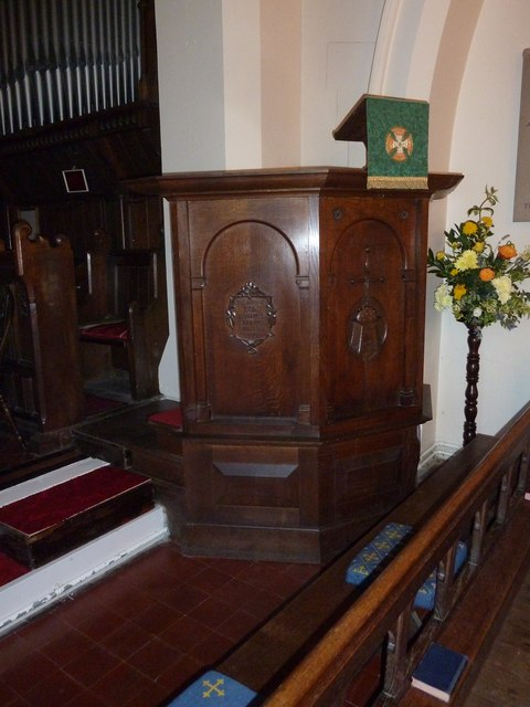 Pulpit at St Mary Ewshot