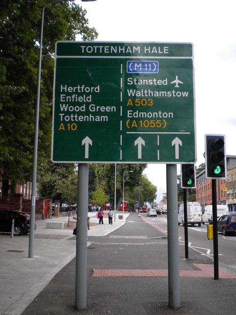 Tottenham Hale street sign, High Road N15